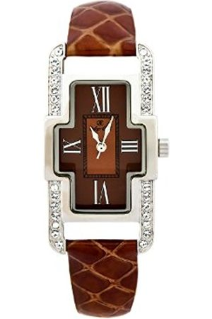 Oskar Emil Ladies Marbella Quartz Watch with Crystals Dial Analogue Display and Leather Strap Marbella