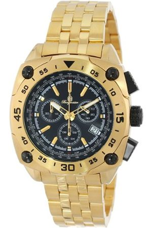 Men Watches - Men's Quartz Watch with Dial Analogue Display and Stainless Steel Plated Bracelet BM326-229