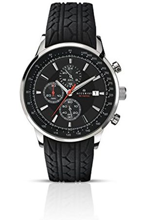 Men Watches - Men's Quartz Watch with Dial Chronograph Display and Rubber Strap 7001.01