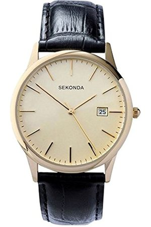 Men Watches - Sekonda Men's Quartz Watch with Dial Analogue Display and Leather Strap 3697.27