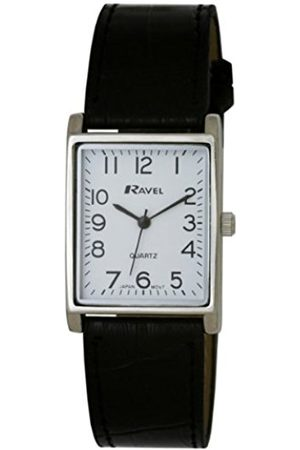 Women Watches - Ravel Large Case Fashion on PU Strap Women's Quartz Watch with Dial Analogue Display and Plastic Strap R0120.02.1