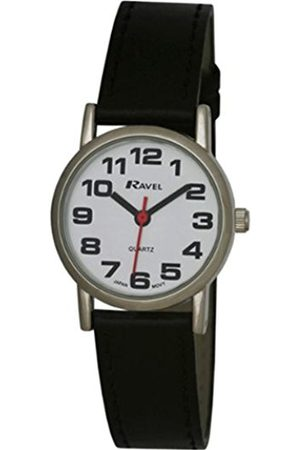Ravel Large Case Fashion on PU Strap Women's Quartz Watch with Dial Analogue Display and Plastic Strap R0105.06.2