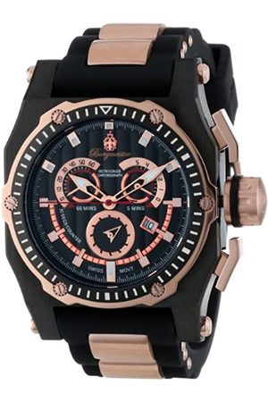 Men Watches - Men's Quartz Watch with Dial Chronograph Display and Silicone Strap BM157-622A