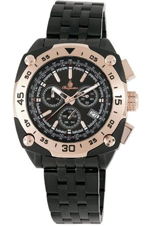 Men Watches - Men's Quartz Watch with Dial Analogue Display and Stainless Steel Plated Bracelet BM326-622B