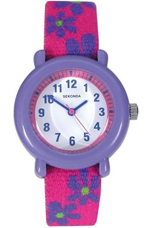 Girls Watches - Sekonda Children's Quartz Watch with Dial Analogue Display and Pink Plastic Strap 4627.05