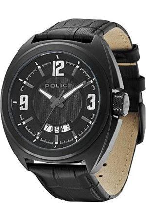 Men Watches - Police Gambler Men's Quartz Watch with Dial Analogue Display and Leather Strap PL.13404JSB/02