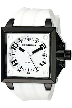 Men Watches - Men's Quartz Watch with Dial Analogue Display and Silicone Strap CP904-676