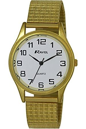 Men Watches - Ravel Easy Read Watch on Expandable Men's Quartz Watch with Dial Analogue Display and Stainless Steel Plated Bracelet R0301071S