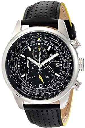 Men Watches - Melbourne Bm505-122 Gents Chronograph Leather Strap-Gelb Dial Date Tachymeter
