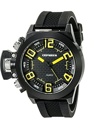 Men Watches - Men's Quartz Watch with Dial Analogue Display and Silicone Strap CP901-622C