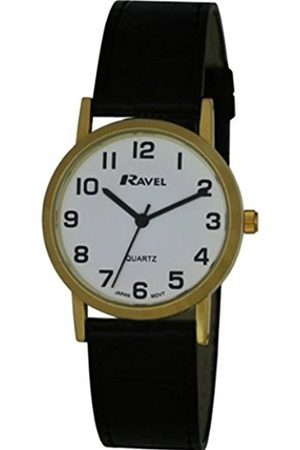 Ravel Large Case Fashion on PU Strap Men's Quartz Watch with Dial Analogue Display and Strap R0102.01.1