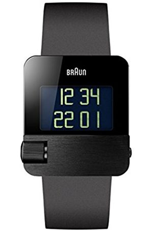 Men Watches - Men's Quartz Watch with Dial Digital Display and rubber Strap BN0106BKBKG