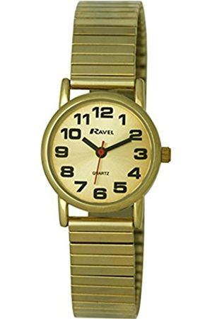 Women Watches - Ravel Easy Read Watch on Expandable Women's Quartz Watch with Dial Analogue Display and Stainless Steel Plated Bracelet R0208052S