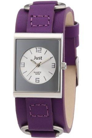 Women Watches - Women's Quartz Watch 48-S0046-SL-PR with Leather Strap