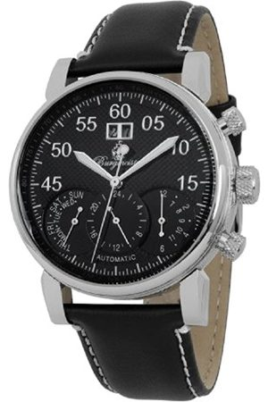 Burgmeister Montreal Bm112-122 Gents Automatic Analogue Wristwatch Leather Strap Day Date Month 24H