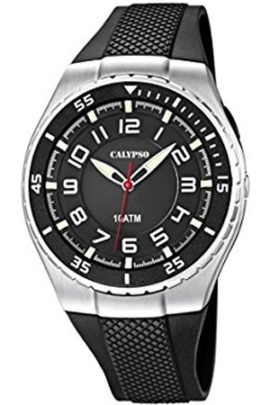 Calypso Men's Quartz Watch with Dial Analogue Display and Plastic Strap K6063/4