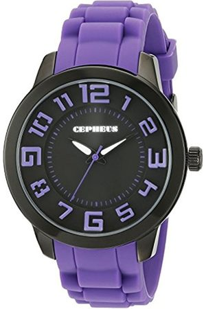 Women Watches - Women's Quartz Watch with Dial Analogue Display and Silicone Strap CP604-620B