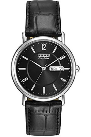 Men Watches - Citizen Men's Eco-Drive Watch with Dail Analogue Display and Leather Strap BM8240-03E