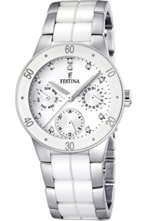 Women Watches - Festina Ladies Quartz Watch with Dial Analogue Display and Stainless Steel Bracelet F16530/3