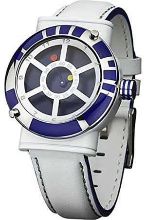 Men Watches - STAR WARS Men's Quartz Watch with Dial Analogue Display and Leather Strap STAR139