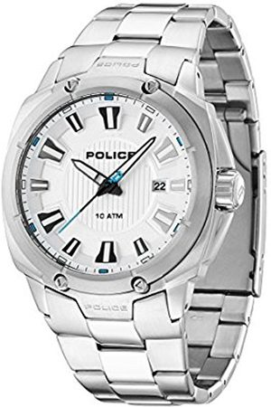 Police Mission Men's Quartz Watch with Dial Analogue Display and Stainless Steel Bracelet 13892JS/04M