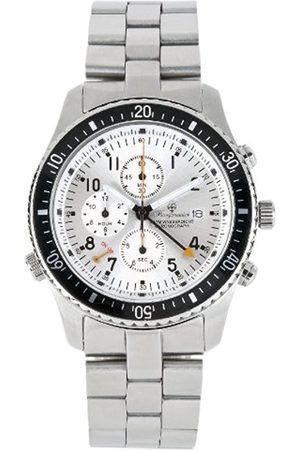 Men Bracelets - Rio De Janeiro Bm316-111 Alarmchronograph Stainless Steel Bracelet Dial Date