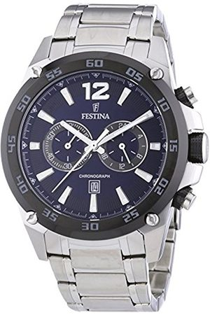 Men Watches - Festina Men's Quartz Watch with Dial Analogue Display and Stainless Steel Bracelet F16680/2