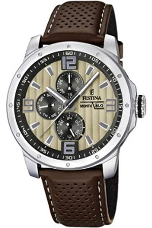 Festina Chrono Bike 2012 Men's Quartz Watch with Dial Analogue Display and Leather Strap F16585/6