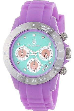 Burgmeister BM514-990B Florida, Ladies watch, Analogue display, Chronograph with Seiko Movement - Water resistant, Sporty and trendy silicone strap