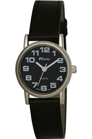 Ravel Large Case Fashion on PU Strap Women's Quartz Watch with White Dial Analogue Display and Plastic Strap R0105.07.2