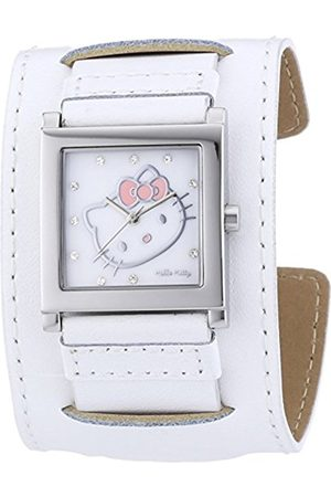 Girls Watches - Hello Kitty Girls Quartz Watch with Dial Analogue Display and Gold Leather Hyuga 1774–141 HK