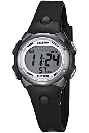 Boys Watches - Calypso Boy's Digital Watch with LCD Dial Digital Display and Plastic Strap K5609/6