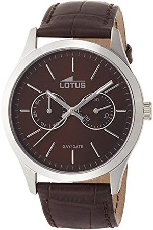 Men Watches - Lotus Men's Quartz Watch with Dial Analogue Display and Leather Strap 15956/2
