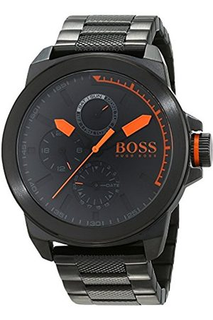 Men Bracelets - HUGO BOSS New York Men's Quartz multi dial Silver Stainless Steel Bracelet 1513157