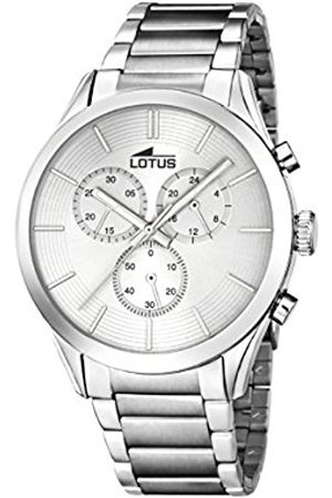 Men Watches - Lotus Men's Quartz Watch with Dial Chronograph Display and Stainless Steel Bracelet 18114/1