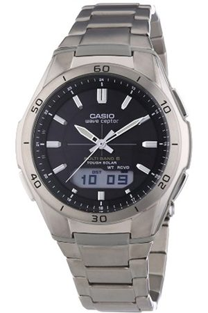 Men Watches - Casio Men's Quartz Watch with Dial Analogue-Digital Display and Silver Titanium Bracelet WVA-M640TD-1AER