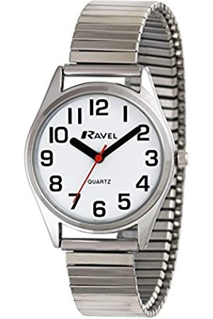 Women Watches - Ravel Easy Read Women's Quartz Watch with Dial Analogue Display and Stainless Steel Plated Bracelet R0225.01.2
