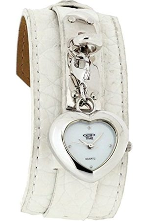 At Time Women's Quartz Watch with Dial Analogue Display and Leather Strap 422–1007–11