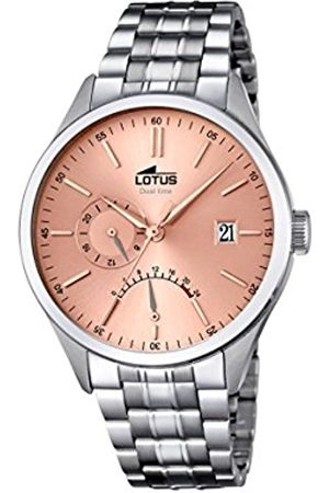 Men Watches - Lotus Men's Quartz Watch with Rose Dial Analogue Display and Stainless Steel Bracelet 18213/2