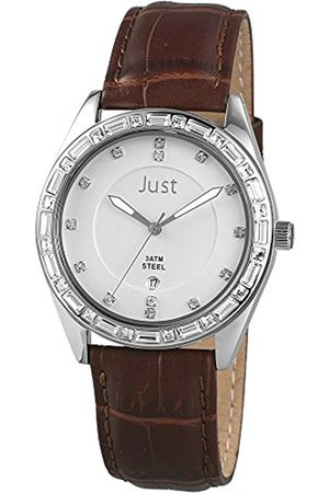 Just Watches Women's Quartz Watch 48-S8262A-SL-BR with Leather Strap