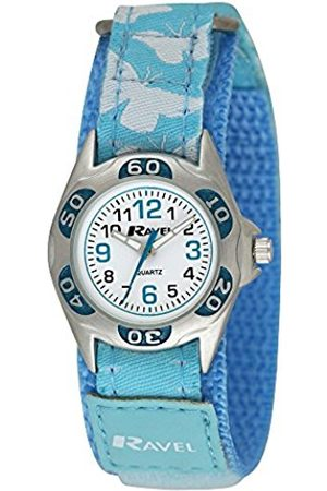 Girls Watches - Ravel Girl's Baby Blue Butterfly Strap Watch