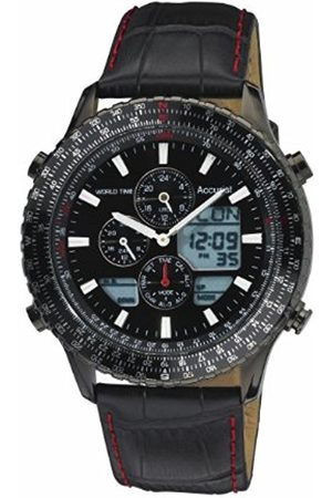 Men Watches - Men's Quartz Watch with Dial Chronograph Display and Leather Strap Ms1036Bb