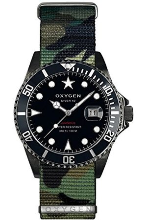 Oxygen Moby Dick 40 Mens Quartz Watch with Dial Analogue Display and Nylon Strap EX-D-MBB-40-NN-AR