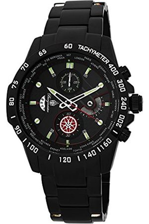 Men Watches - Men's Quartz Watch with Dial Chronograph Display and Stainless Steel Plated Bracelet BMS01-622