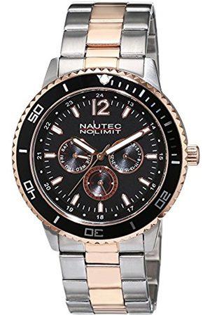 Nautec No Limit Men's Quartz Watch Analogue Display and Stainless Steel Strap GLAC-QZ-STRGSTRG-BK
