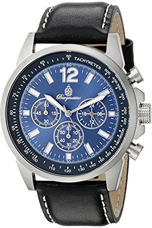 Men Watches - Men's Quartz Watch with Dial Chronograph Display and Leather Bracelet BM608-132