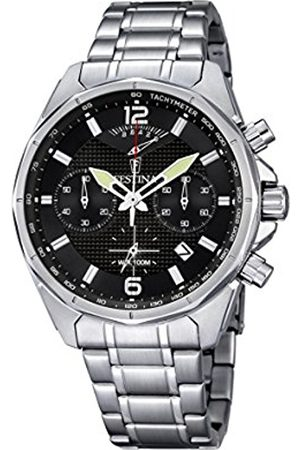 Men Watches - Festina Men's Quartz Watch with Dial Chronograph Display and Stainless Steel Bracelet F6835/4
