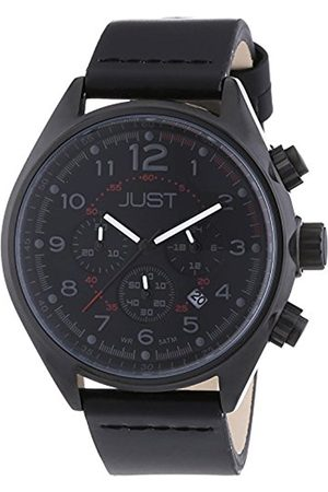 Just Watches Men's Quartz Watch 48-S10780-BK-YL with Leather Strap