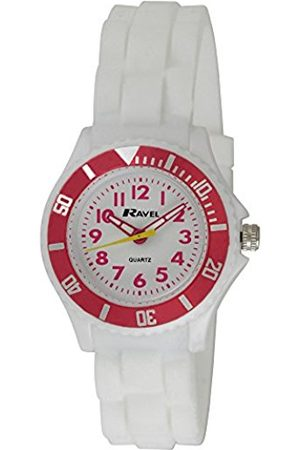 Girls Watches - Ravel Children's Easy Read Quartz Watch with Dial Analogue Display and Silicone Strap R1802.4