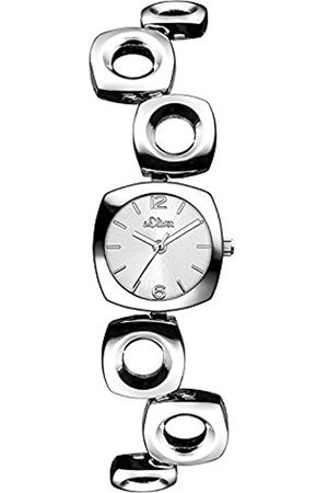 Women Watches - s.Oliver Women's Quartz Watch with Silver Dial Analogue Display and Silver Alloy Bracelet 12210838